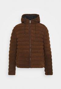 Leather jacket - tobacco