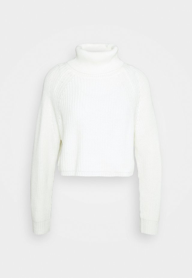 ROLL NECK BATWING - Jumper - white