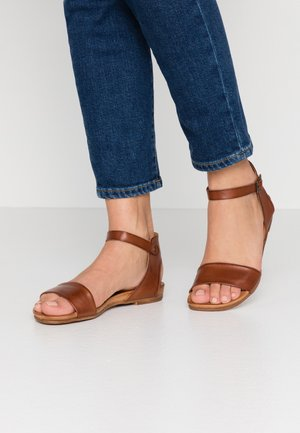 LEATHER  - Sandales - cognac