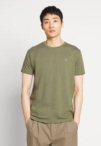 GANT - THE ORIGINAL - T-shirt basic - olive - 0