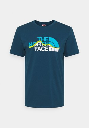 MOUNTAIN LINE TEE - T-Shirt print - monterey blue