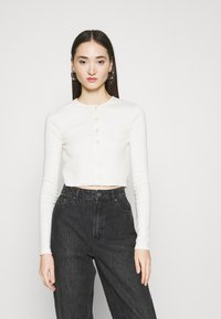 BDG Urban Outfitters - BUTTON DOWN CARDIGAN - Cardigan - ivory - 0