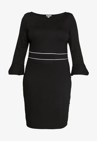 Anna Field Curvy - Jersey dress - black/white - 4