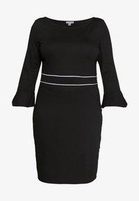 Žerzejové šaty - black/white