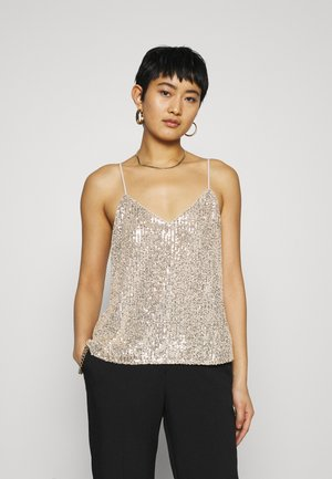PERFECT CAMI SEQUINS - Topper - champagne cocktail