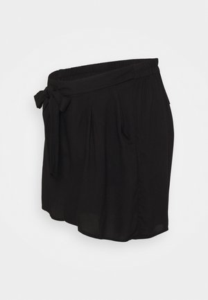 UNDER BUMP TIE WAIST - Shorts - black