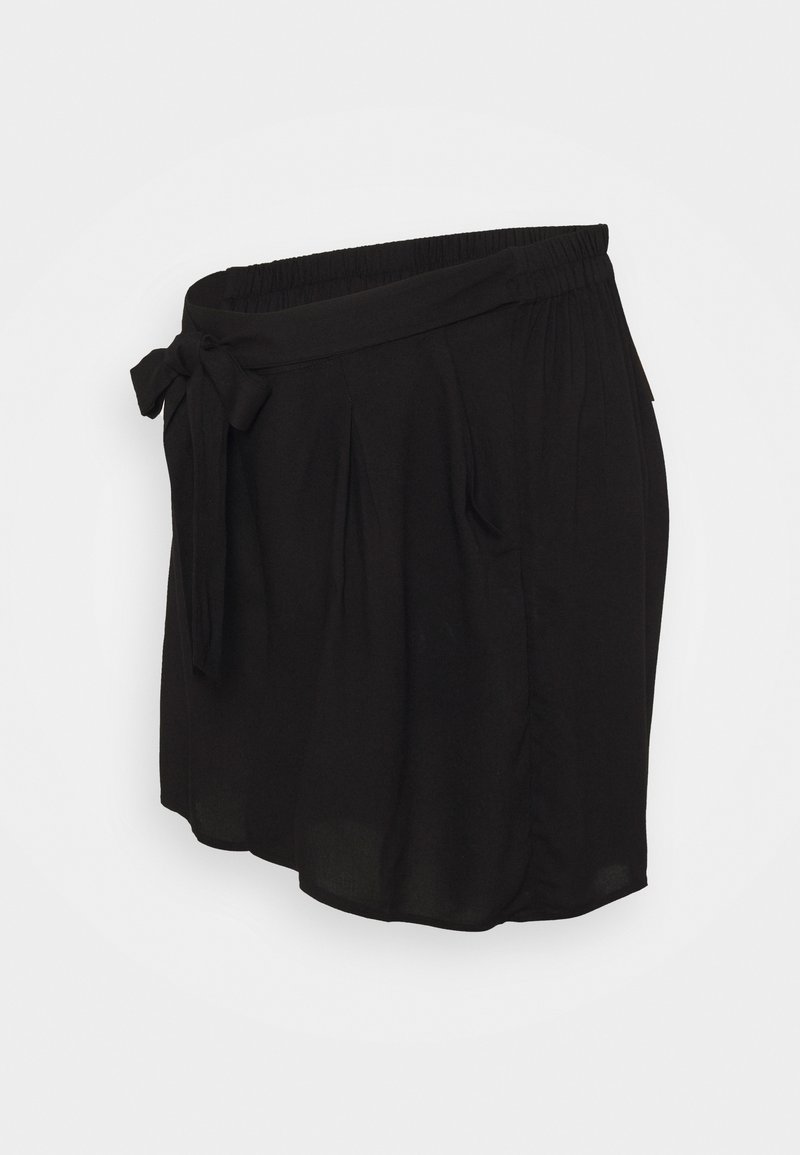 Dorothy Perkins Maternity - UNDER BUMP TIE WAIST - Shortsit - black