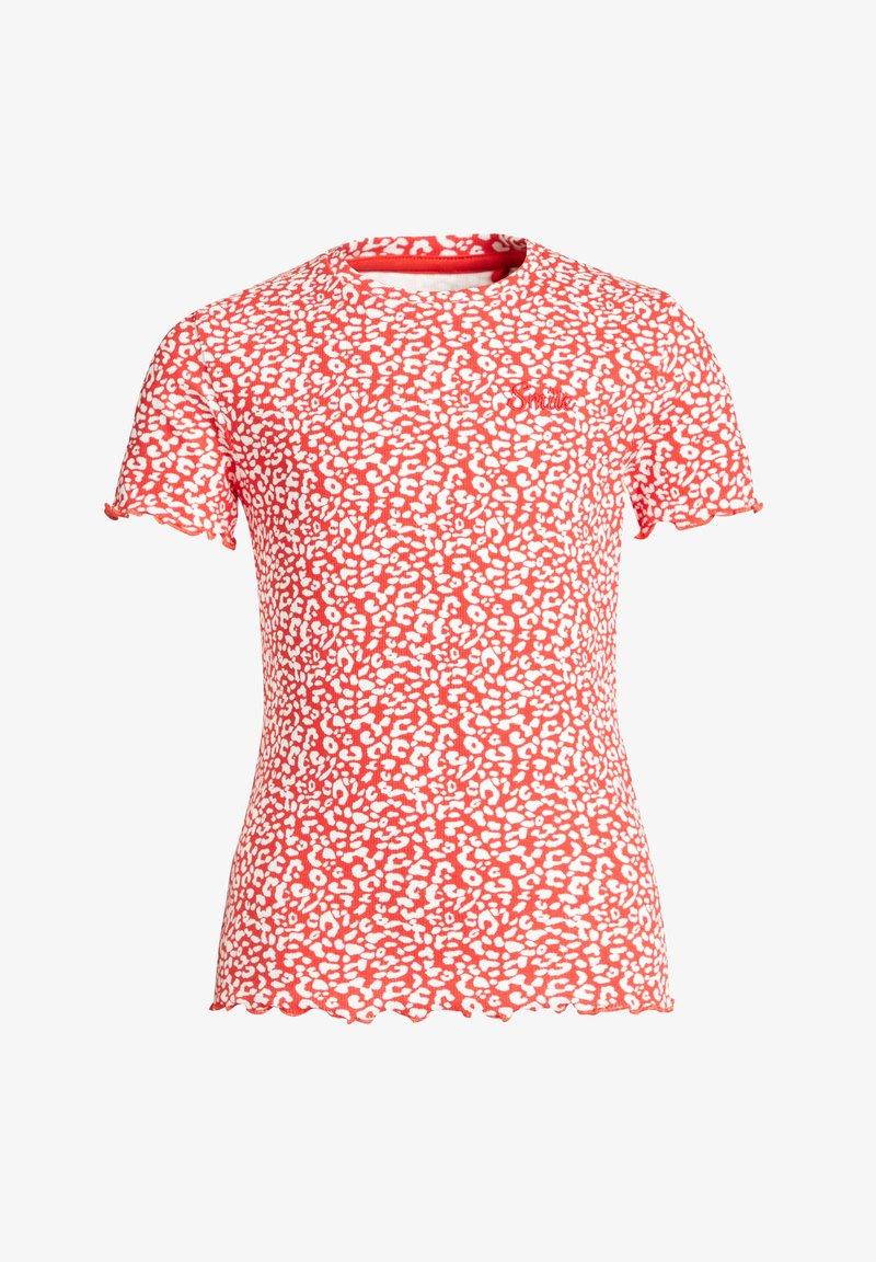 WE Fashion - MET PANTERDESSIN - Triko spotiskem - red