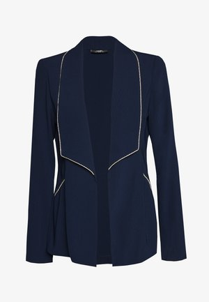 DIAMANTE TRIM JACKET - Blazer - navy
