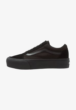 UA OLD SKOOL PLATFORM - Sneakers laag - black