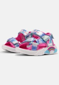Skechers - RAINBOW RACER - Sandals - pink/light blue - 1