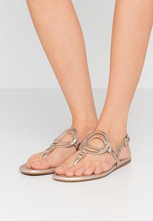 JERI METALLIC - T-bar sandals - champagne
