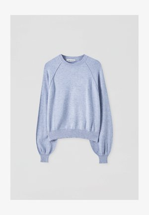 Long sleeved top - mottled blue