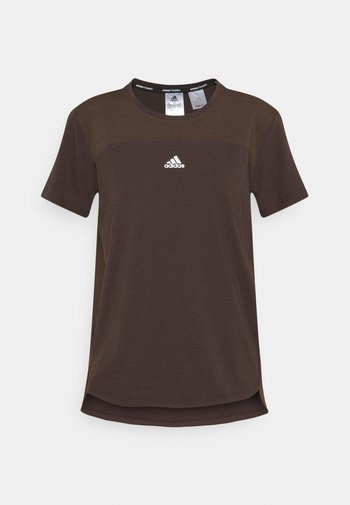 AEROREADY TEE - Basic T-shirt - brown