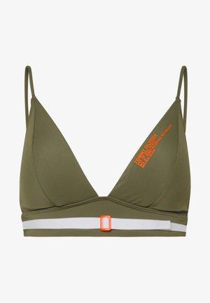 SUMMER PATROL LONGLINE TRIANGLE - Top de bikini - army green