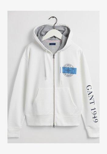 Zip-up sweatshirt - eggshell