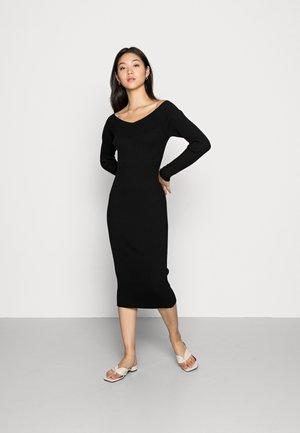 VMWILLOW OFF SHOULDER DRESS  - Jumper dress - black
