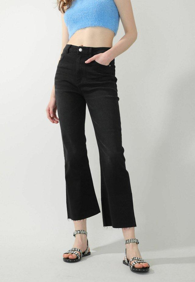 Jeans bootcut - schwarz