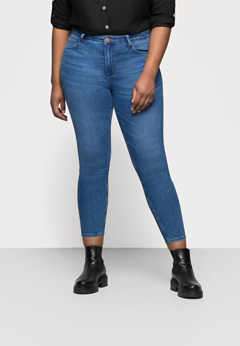 Marks & Spencer London - IVY SKINNY - Jeansy Skinny Fit - blue denim