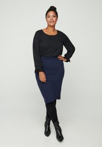 Zizzi - Pencil skirt - blue - 0