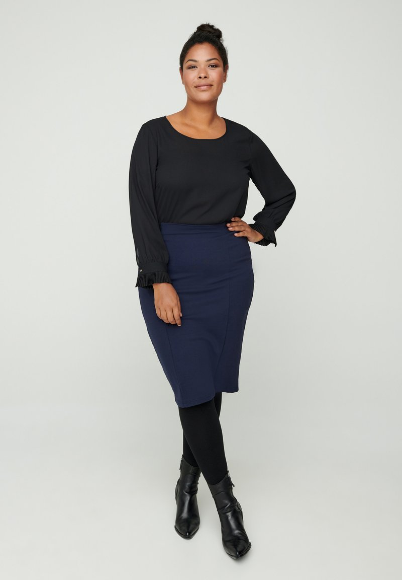 Zizzi - Pencil skirt - blue