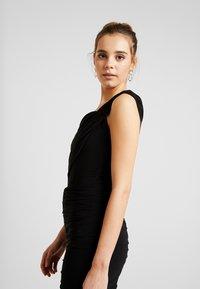 Club L London - DRAPE WRAP BODYSUIT - Print T-shirt - black - 3