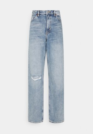 TAIKI STRAIGHT LEG DISTRESSED - Jean droit - blue medium dusty