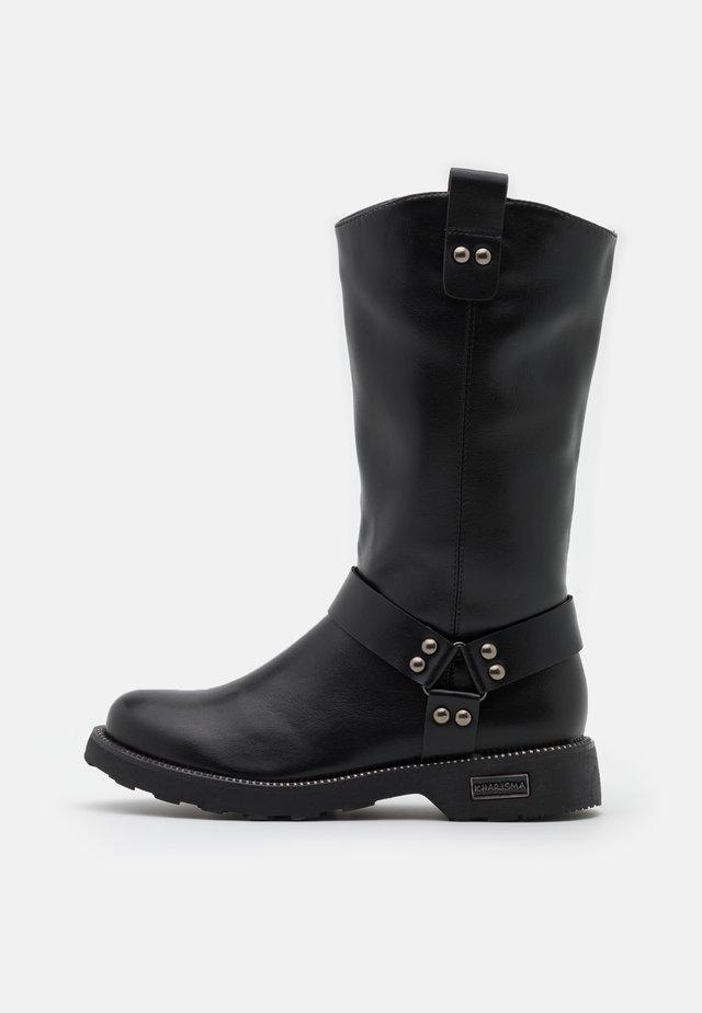 Cowboy/Biker boots - soft nero