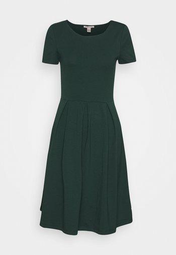 BASIC MINI DRESS - Jerseykjole - green
