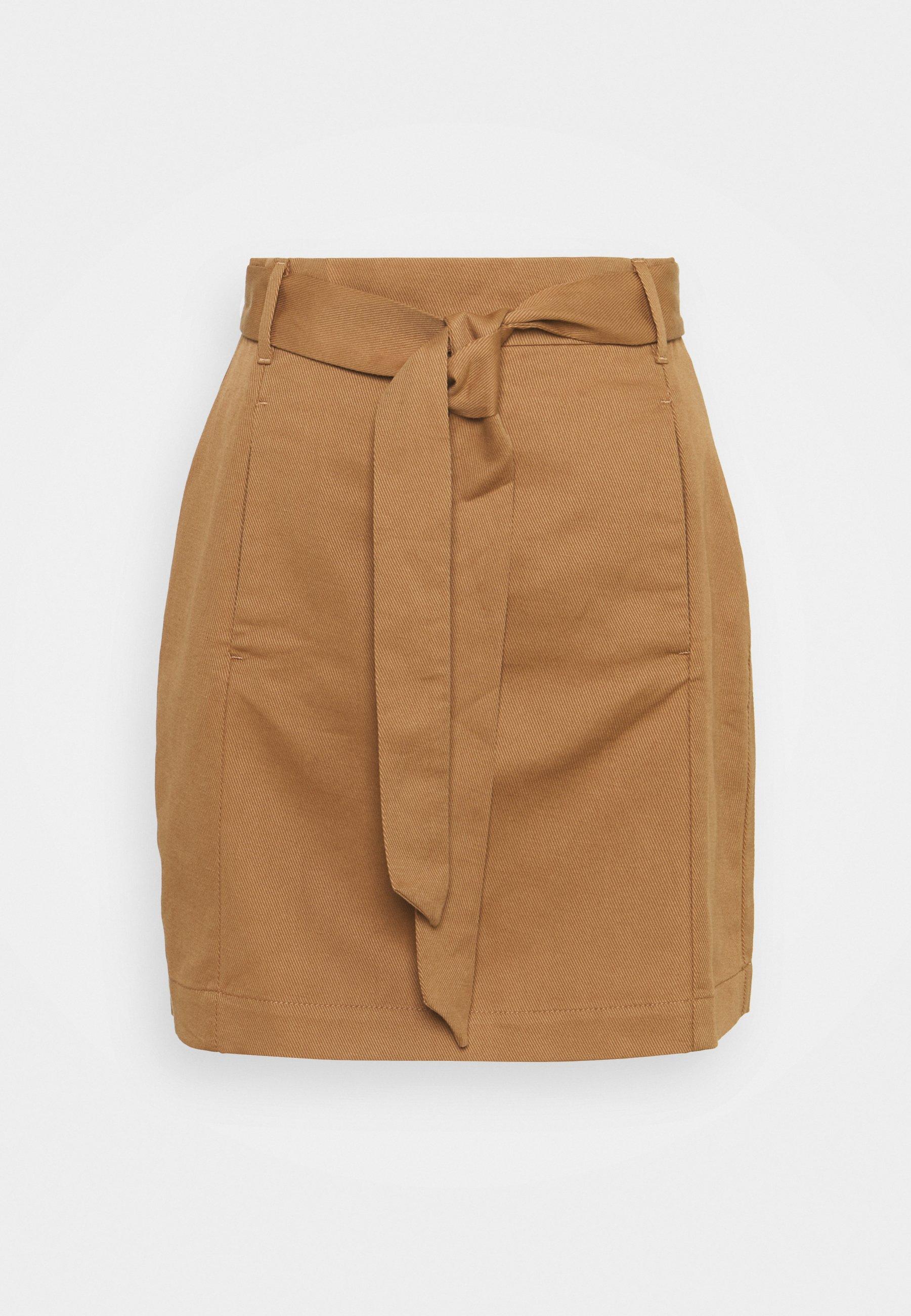 Women UTILITY MINI TIE BELT - Mini skirt