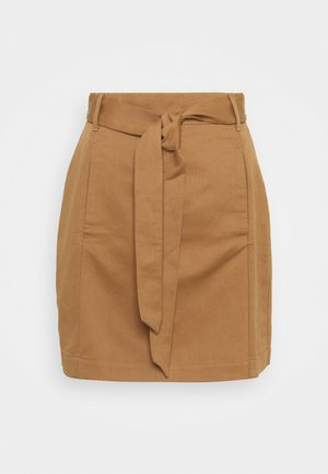 UTILITY MINI TIE BELT - Mini skirt - afternoon latte