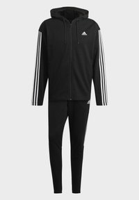 adidas Performance - ADIDAS SPORTSWEAR RIBBED INSERT TRACKSUIT - Survêtement - black - 9