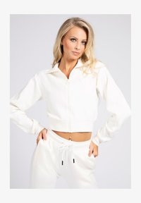 Guess - Zip-up sweatshirt - weiß - 0