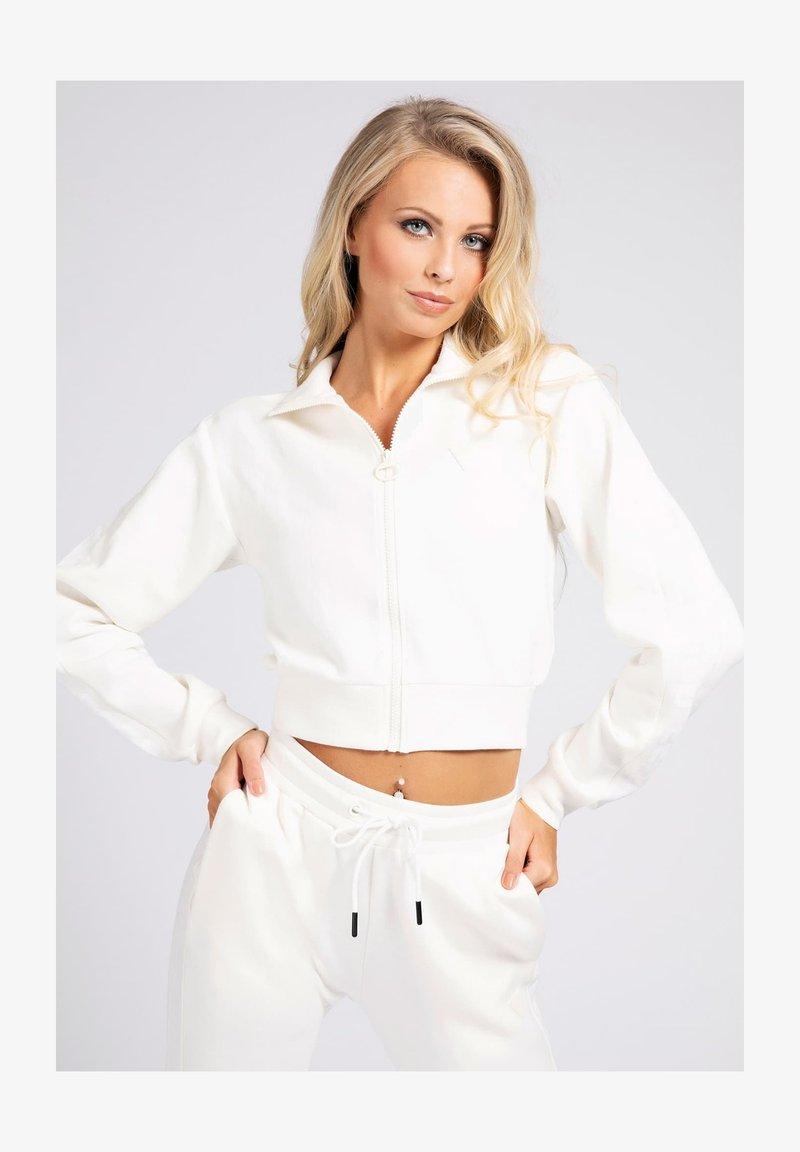 Guess - Zip-up sweatshirt - weiß