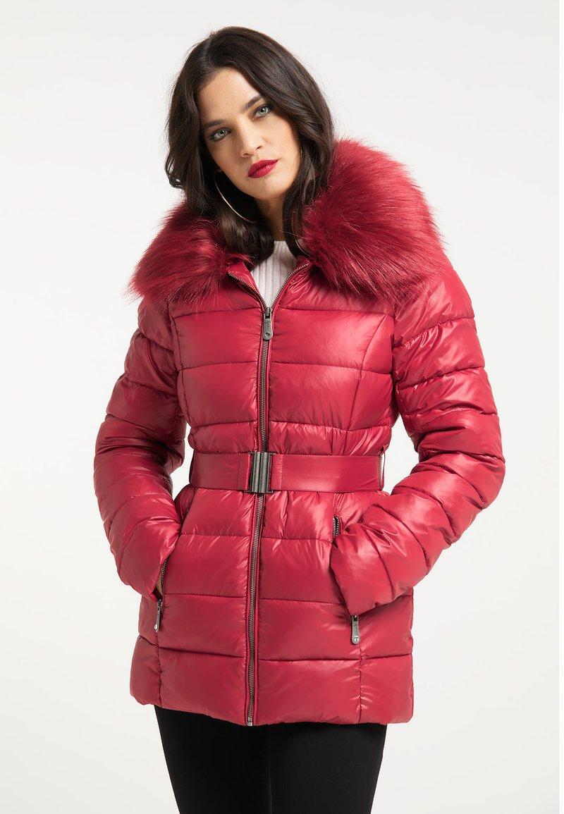 faina - Winter jacket - dunkelrot