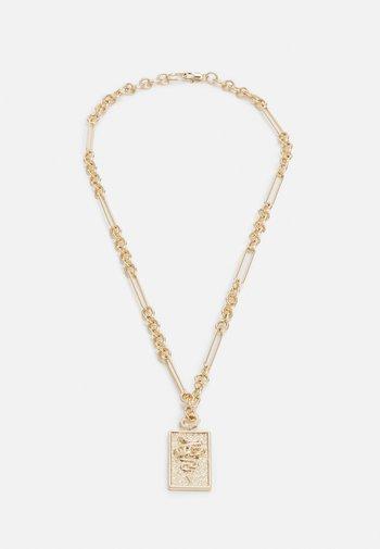 SNAKE TAG NECKLACE - Kaulakoru - gold-coloured