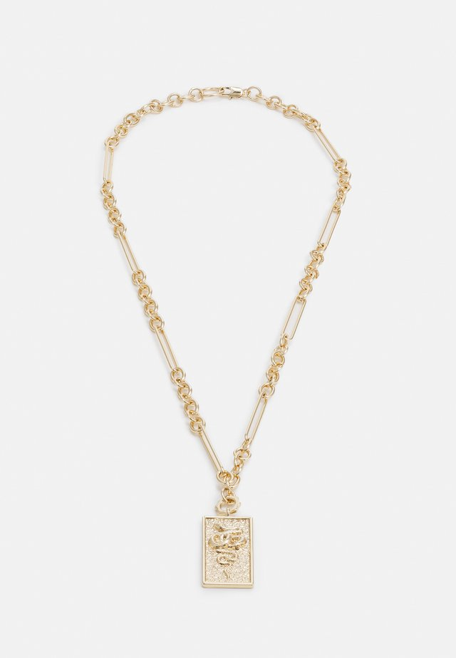 SNAKE TAG NECKLACE - Collana - gold-coloured