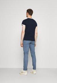 Schott - TSRANKS - Print T-shirt - navy - 2
