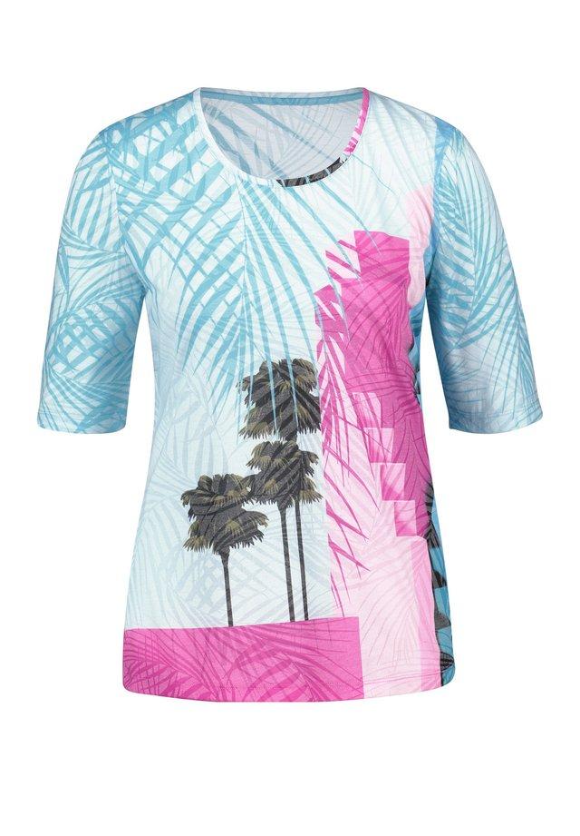 MIT PALMENPRINT - T-shirt print - blau/lila/pink druck