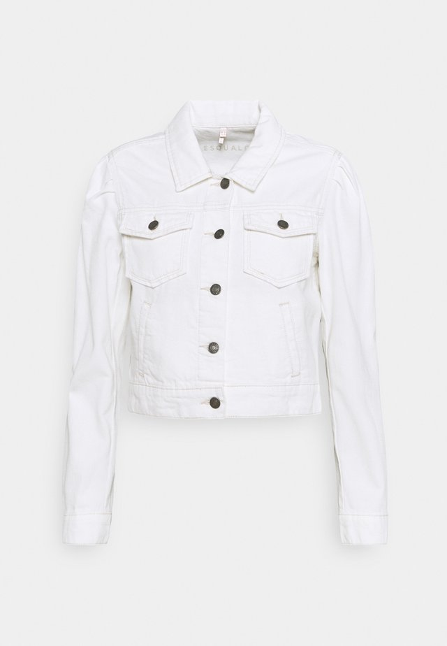 JACKET CROPPED - Spijkerjas - off white