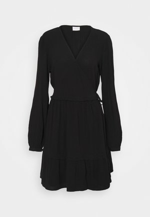 VIMESA WRAP DRESS - Day dress - black