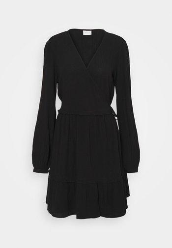 VIMESA WRAP DRESS - Day dress - black