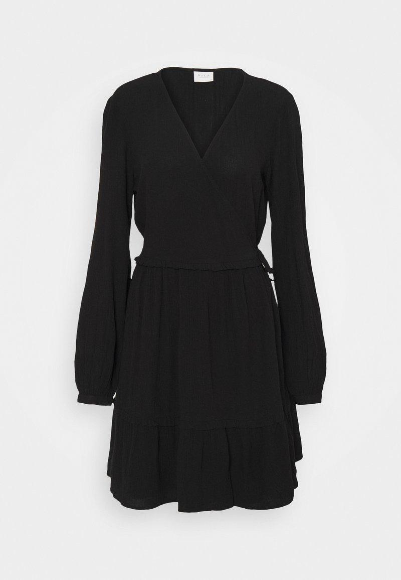 Vila - VIMESA WRAP DRESS - Day dress - black