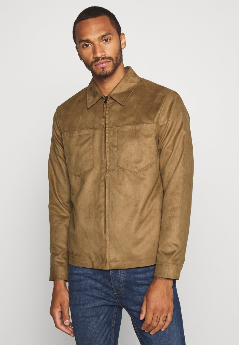 Topman - POCKET SUEDETTE - Giacca in similpelle - tan