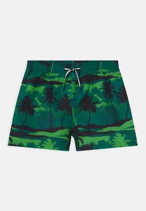 NIKO - Swimming shorts - black/dark green