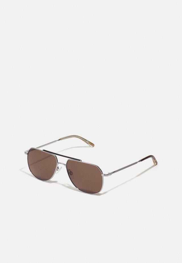 UNISEX - Sunglasses - shiny light gunmetal/dark tort