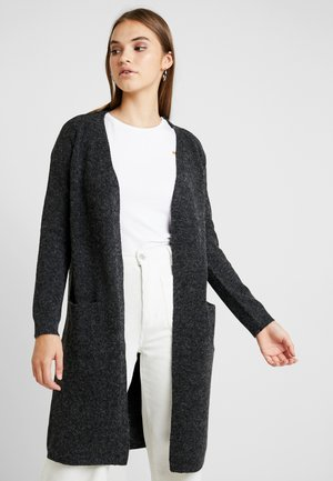 VMDOFFY LONG OPEN CARDIGAN - Strickjacke - black/melange
