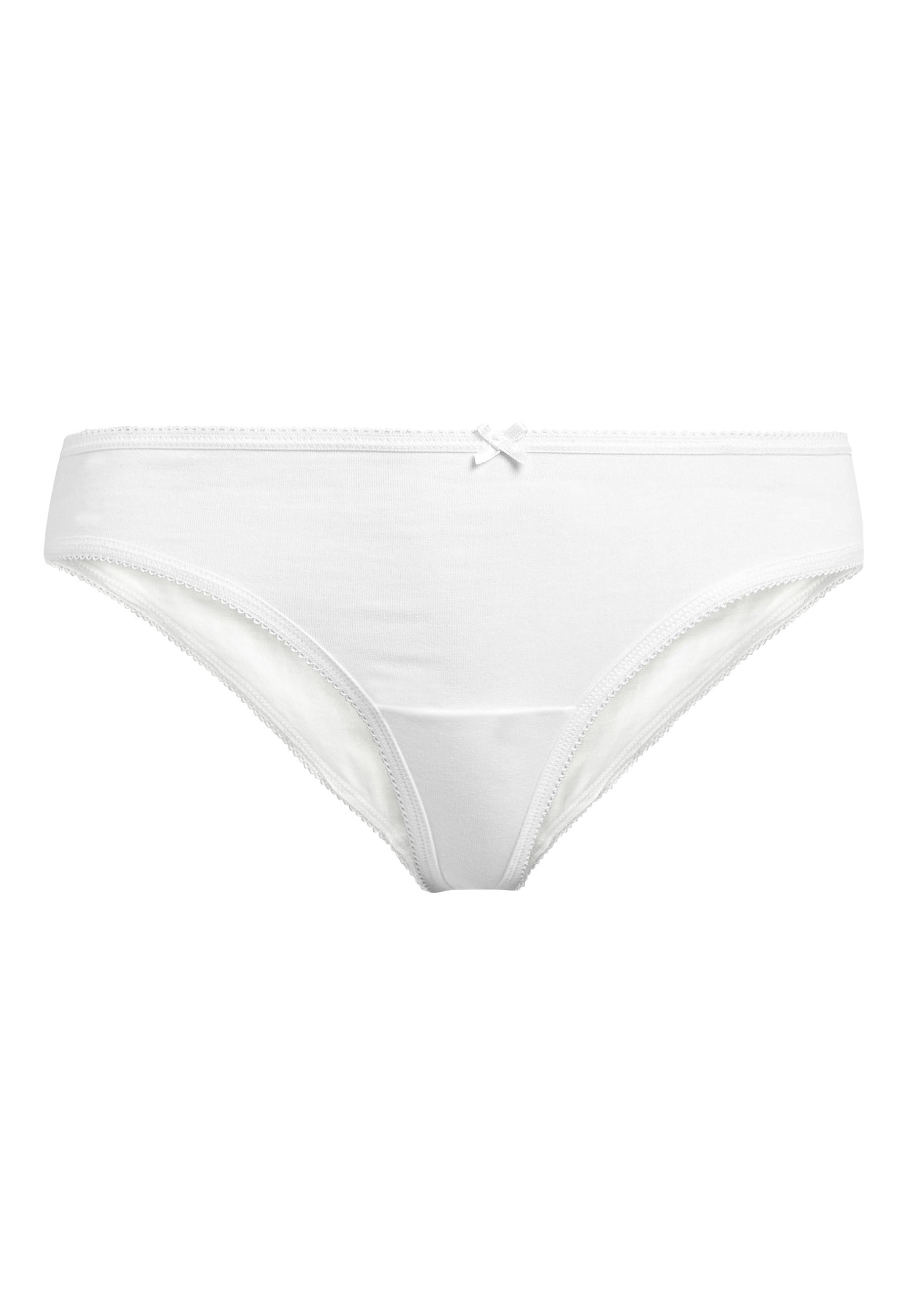 Femme NAVY/WHITE THONG COTTON KNICKERS FIVE PACK - String