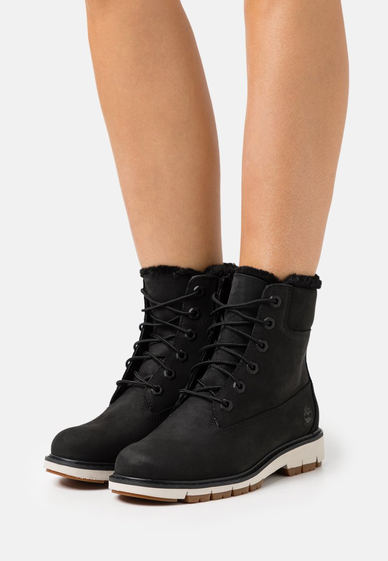 Timberland - LUCIA 6 IN WARM LINED BOOT WP - Lace-up ankle boots - black