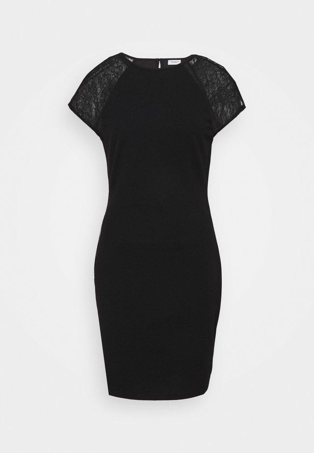 JDYBERNADETTE CAPSLEEVE DRESS - Pouzdrové šaty - black